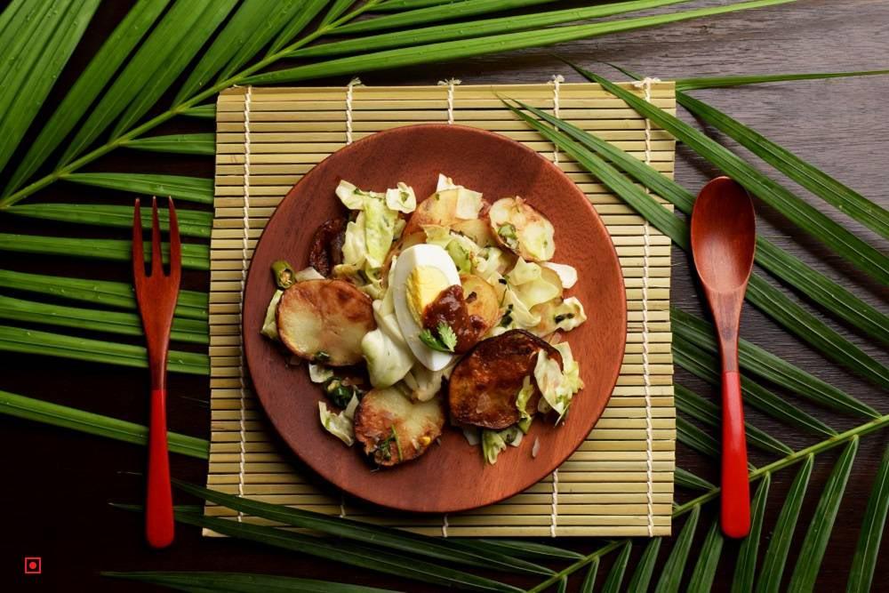 Egg Cabbage Salad