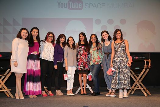 Food partner at the YouTube women's panel discussion