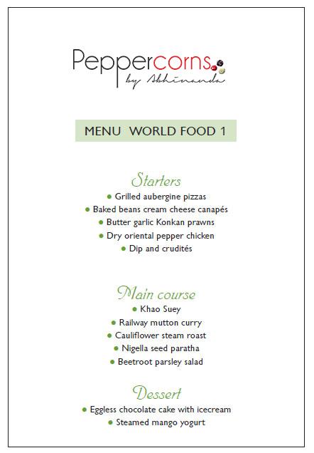 Menu World Food 1